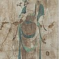 Fragment of 'bodhisattva' mural, china, tang era (618-906), 7th-8th century