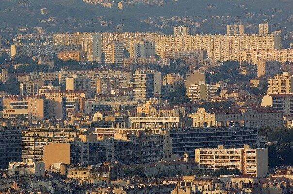 Vue sur le 15e arrondissement de Marseille