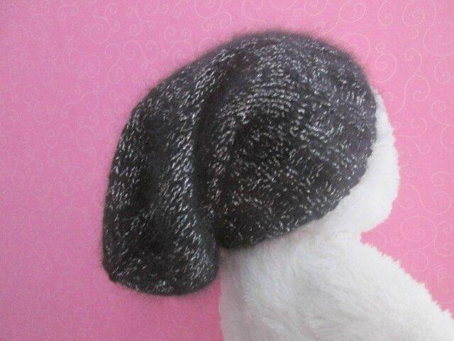 Bonnet slouchy angora 01
