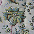 256 tissu ancien ameublement motif indiennes 127 x 175