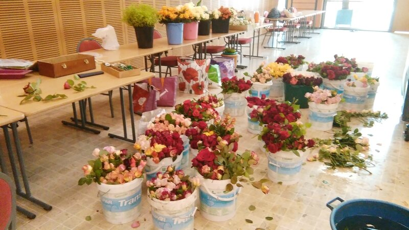 roses centres tables