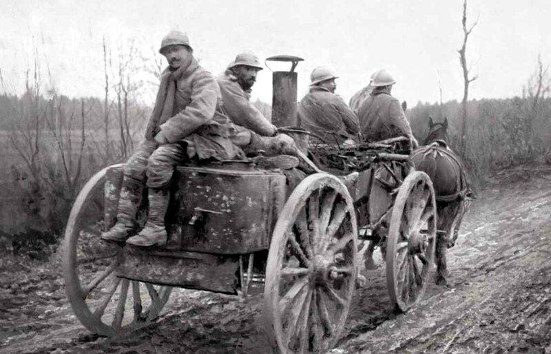 Cuisine roulande front dr Verdun Mars 1916