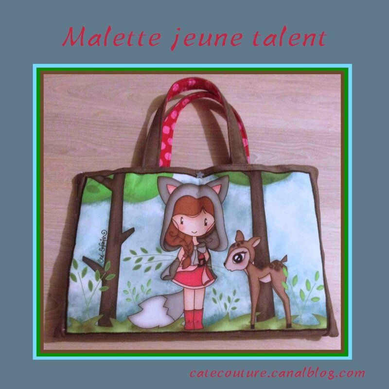 Mallette pour jeune talent the tuto catecouture for Mallette couture enfant