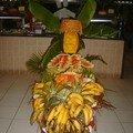 Décoration fruits et légumes au restaurant