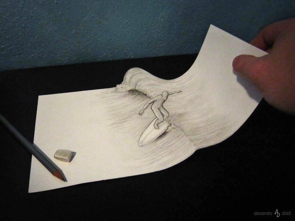 Les dessins 3D de cet artiste vont vous bluffer ! Alexandro Diddi