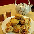 Muffins à la fraise et au thé ti kuan yin