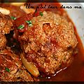 P'tites boulettes d'agneau  la sauce tomate