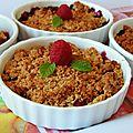 Crumble aux fruits rouges à la farine complète de petit épeautre
