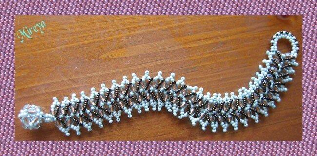 frangipani caterpillar bracelet