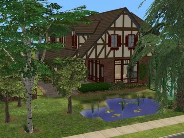 Maison moderne maisons deco sims2 for Decoration maison normande traditionnelle