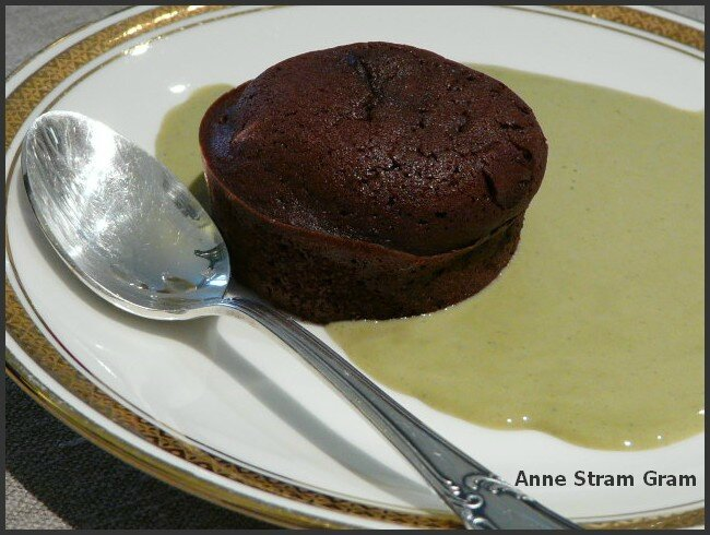 Crème anglaise thé matcha