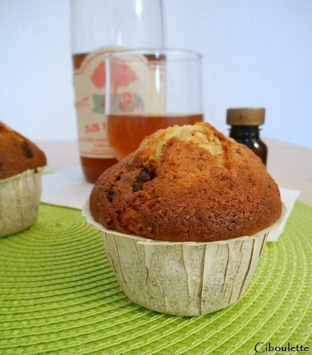 Muffins aux pépites de chocolat au lait