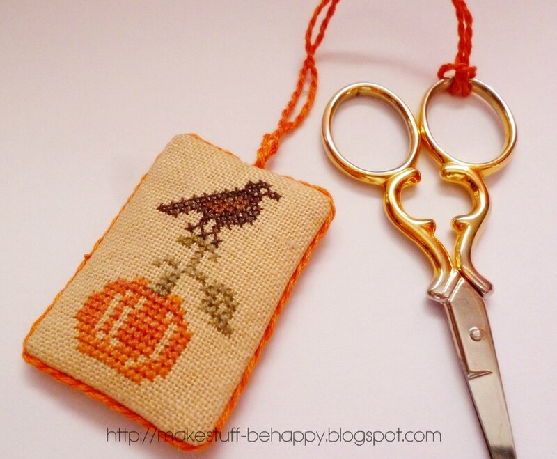 guarding pumpkin scissor fob freebie