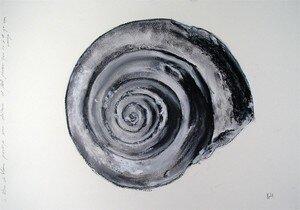Bruno_Laxague__fossile_6__huile_sur_papier__26_x_37_cm