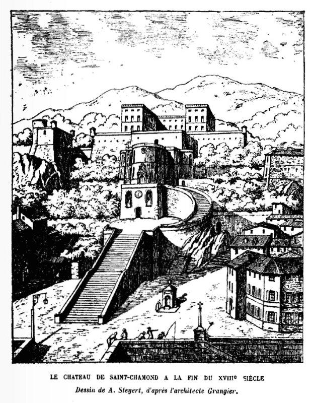 château Saint-Chamond dessin Steyert