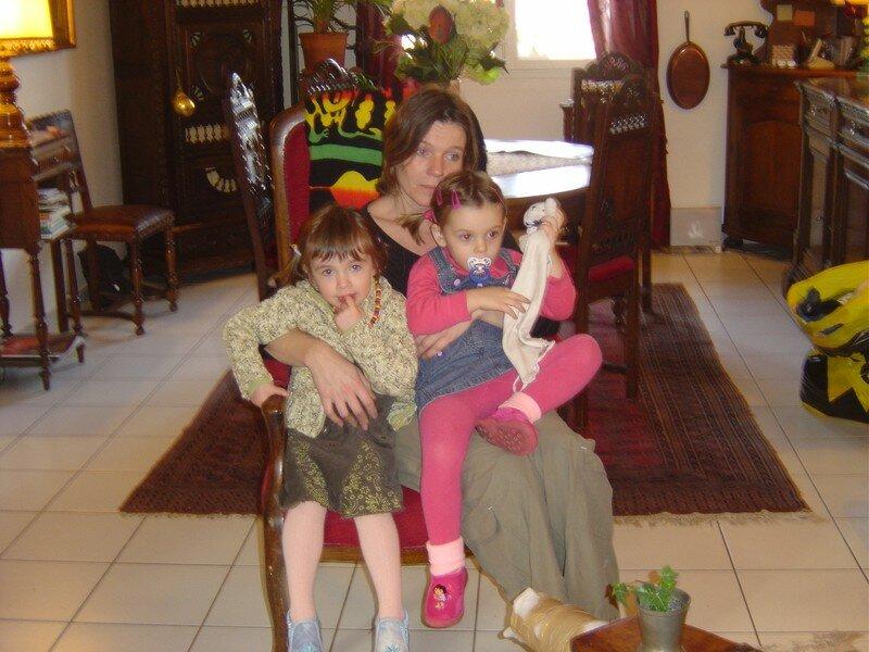 Les filles sur les genoux de Coco