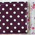 30. pochette I-phone en toile enduite violet à pois - voir l'int