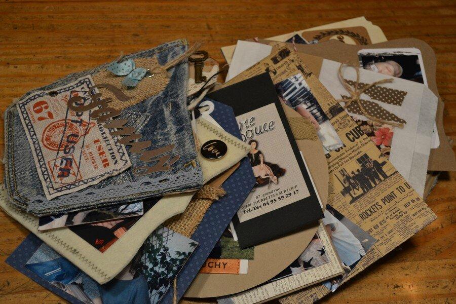 Mini-album scrap en jean