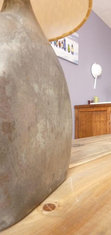 lampe recycl e libertydeco. Black Bedroom Furniture Sets. Home Design Ideas