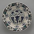 'grape' dish. turkey, iznik, ca. 1570. the metropolitan museum of art