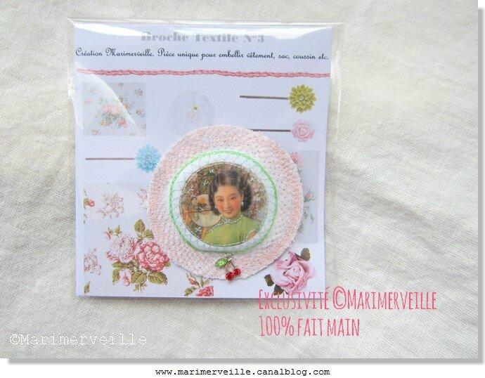 Broche textile N°3 Marimerveille