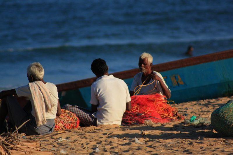 Pêcheurs à Mamallapuram