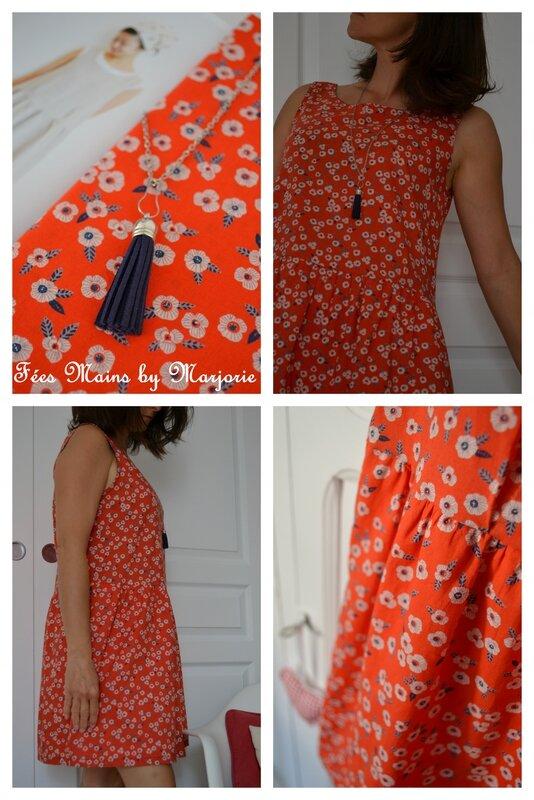 Robe fleurie Lisette Atelier Brunette Fées Mains by Marjorie2
