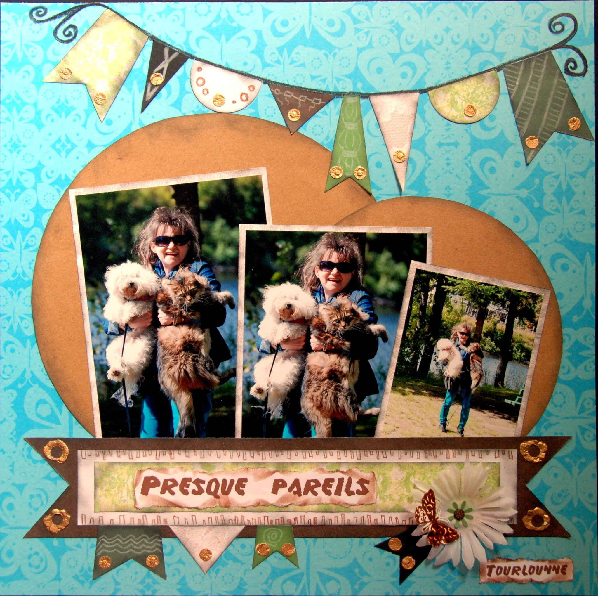 scrapbooking avec 2 photos