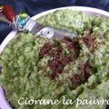 Tartinade de haricot blanc - cresson