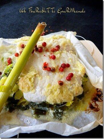 Filet de julienne à la citronnelle sur lit de poireaux (5)