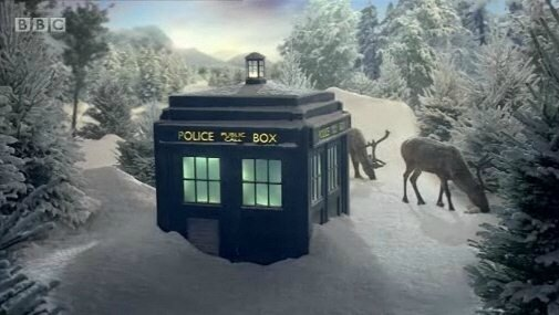 doctor-who-bbc-christmas-ident-tardis-snow