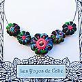 Les yoyos de calie - collier fleurs potirons talia
