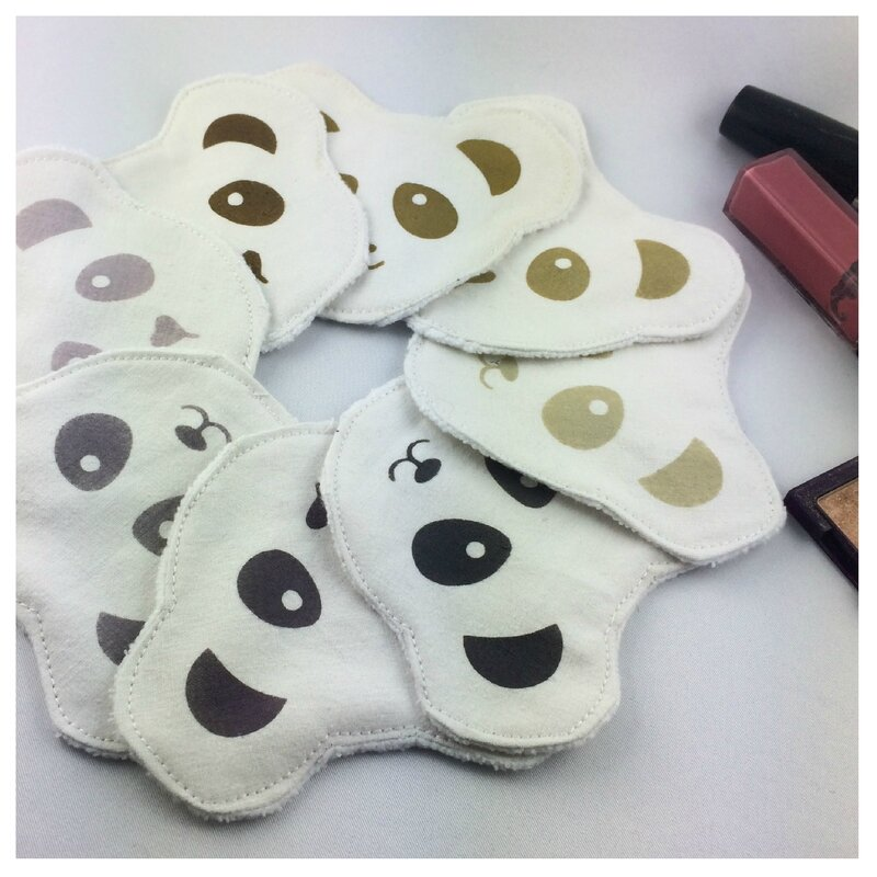 lingettes démaquillantes panda ParmeBrun