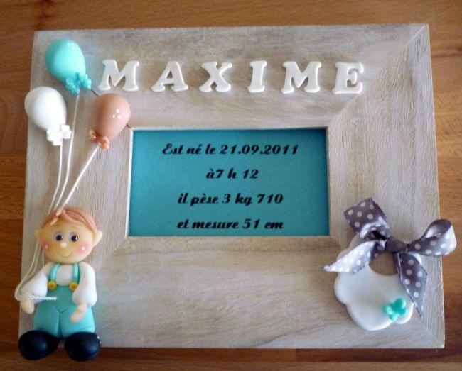 Cadre de naissance pour Maxime