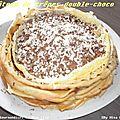 gâteau de crêpes double-choco