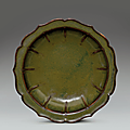 A rare teadust-glazed bracket-lobed 'narcissus bowl', yongzheng