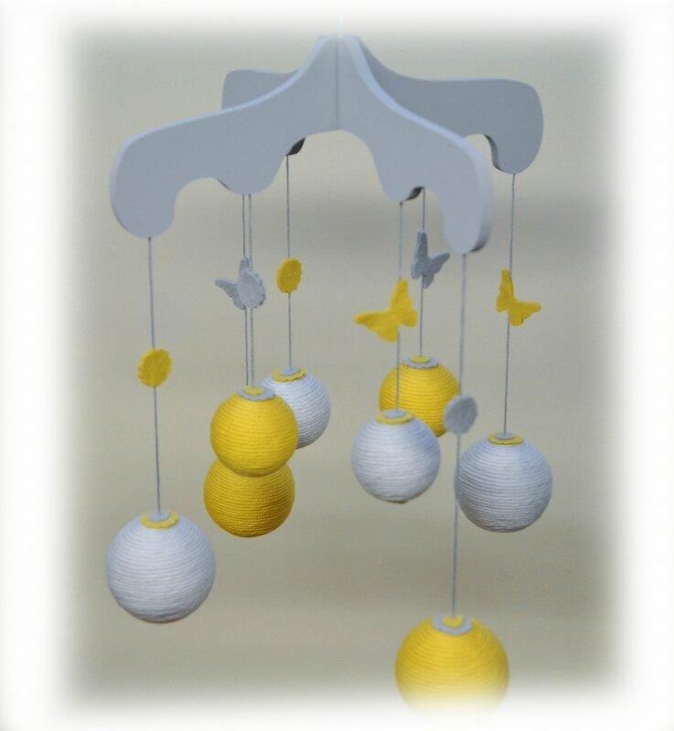 mobile chapiteau jaune gris 3