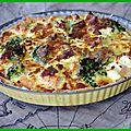 [ tarte (bonne) au brocolis et au saumon ]