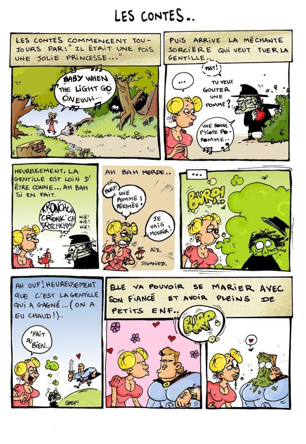 Les Contes : Scénario et dessin : Hugo / Colo : Pilou. Ca déchire nan ?!