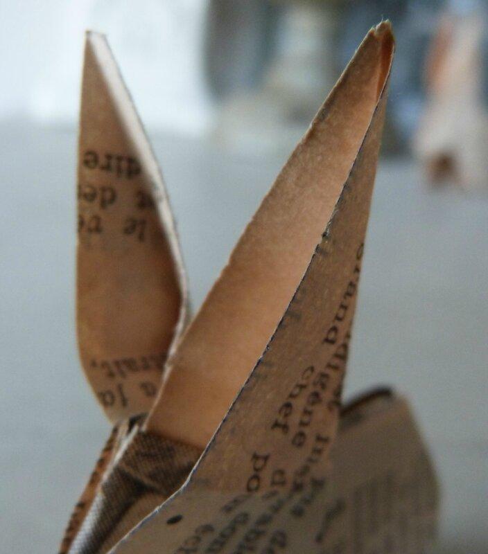 Lapin origami papier ancien (24)