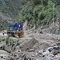 Travaux sur la ligne qui va a Aguas calientes( Machu pichu