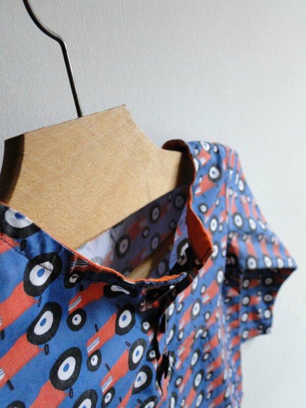 détails chemise Les Bêtes de Céline