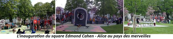 Inauguration du square Edmon Cahen - Alice au pays des merveilles