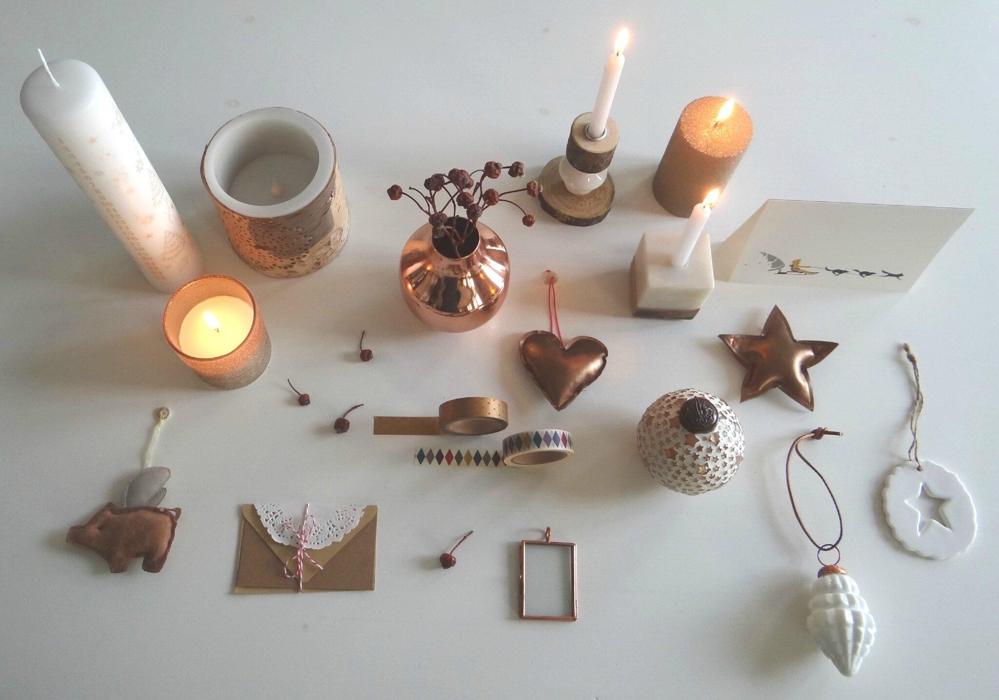 decoration de noel cuivre. Black Bedroom Furniture Sets. Home Design Ideas