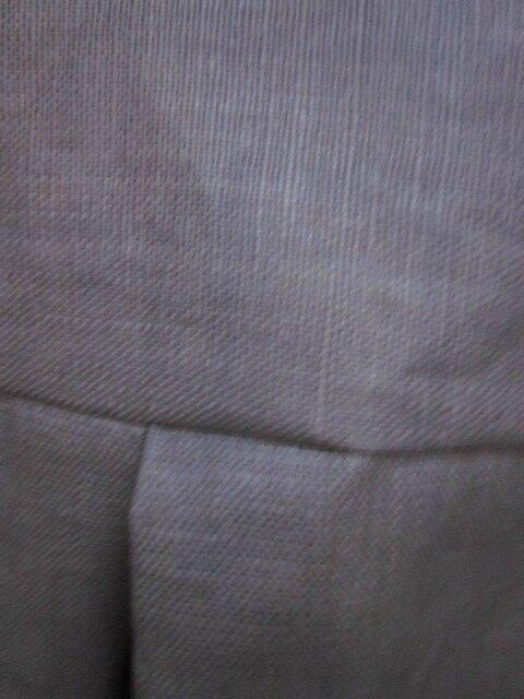 Ciré AGLAE en lin enduit beige fermé par 2 pressions dissimulés sous 2 gros boutons recouverts dans le mm tissu - taille 50 (1)
