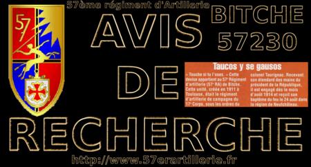 AVIS DE RECHERCHE 001