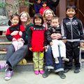 Photo avec les enfants