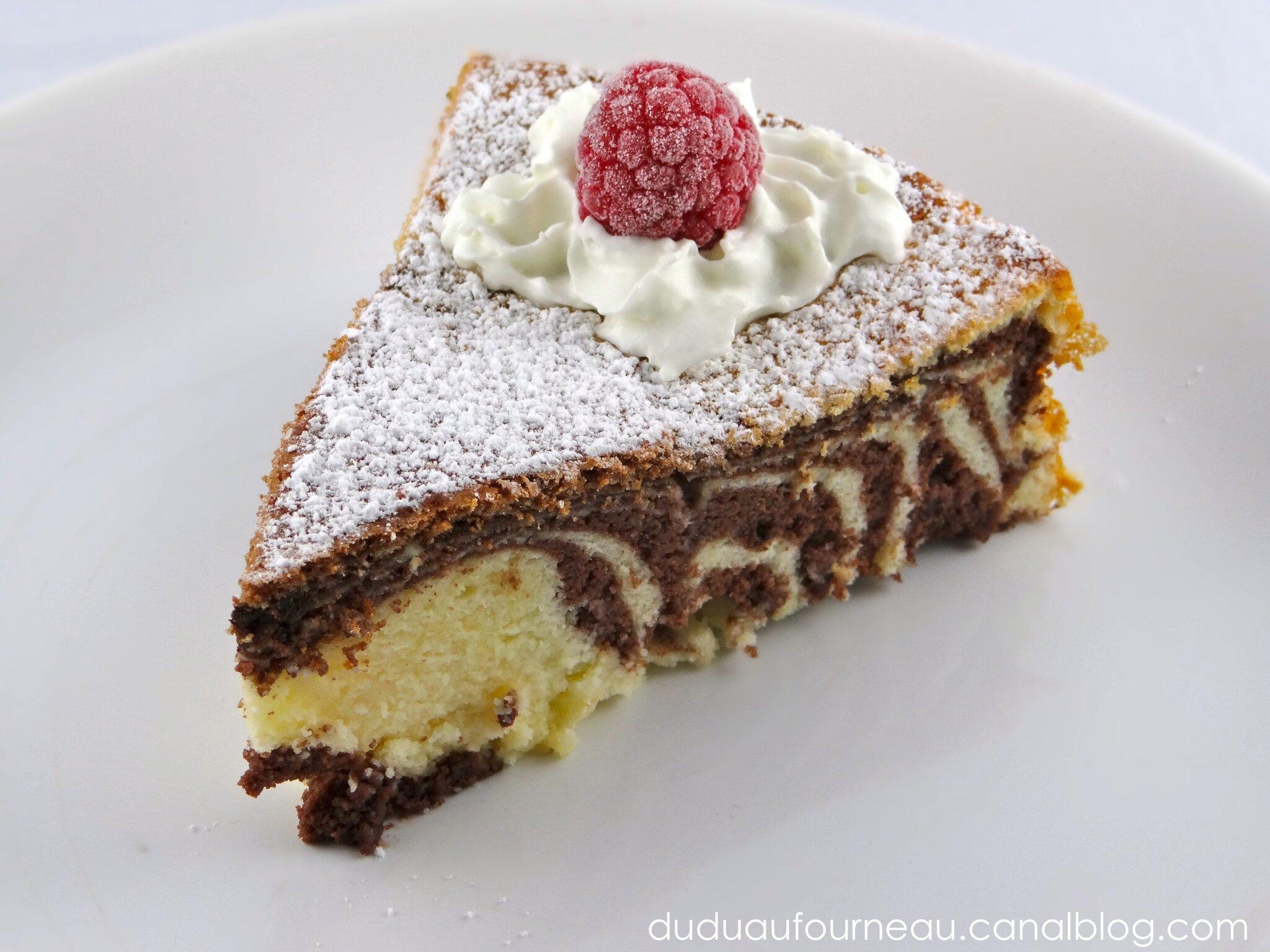 Gâteau au fromage marbré