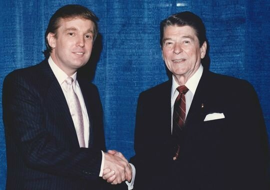 Donald Trump with Ronald Reagan 2