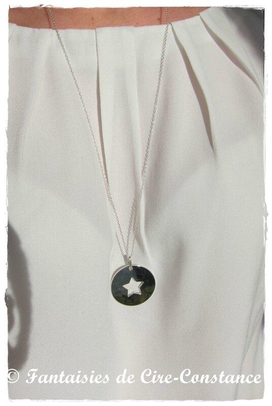 Sautoir étoile ajourée argent massif-2